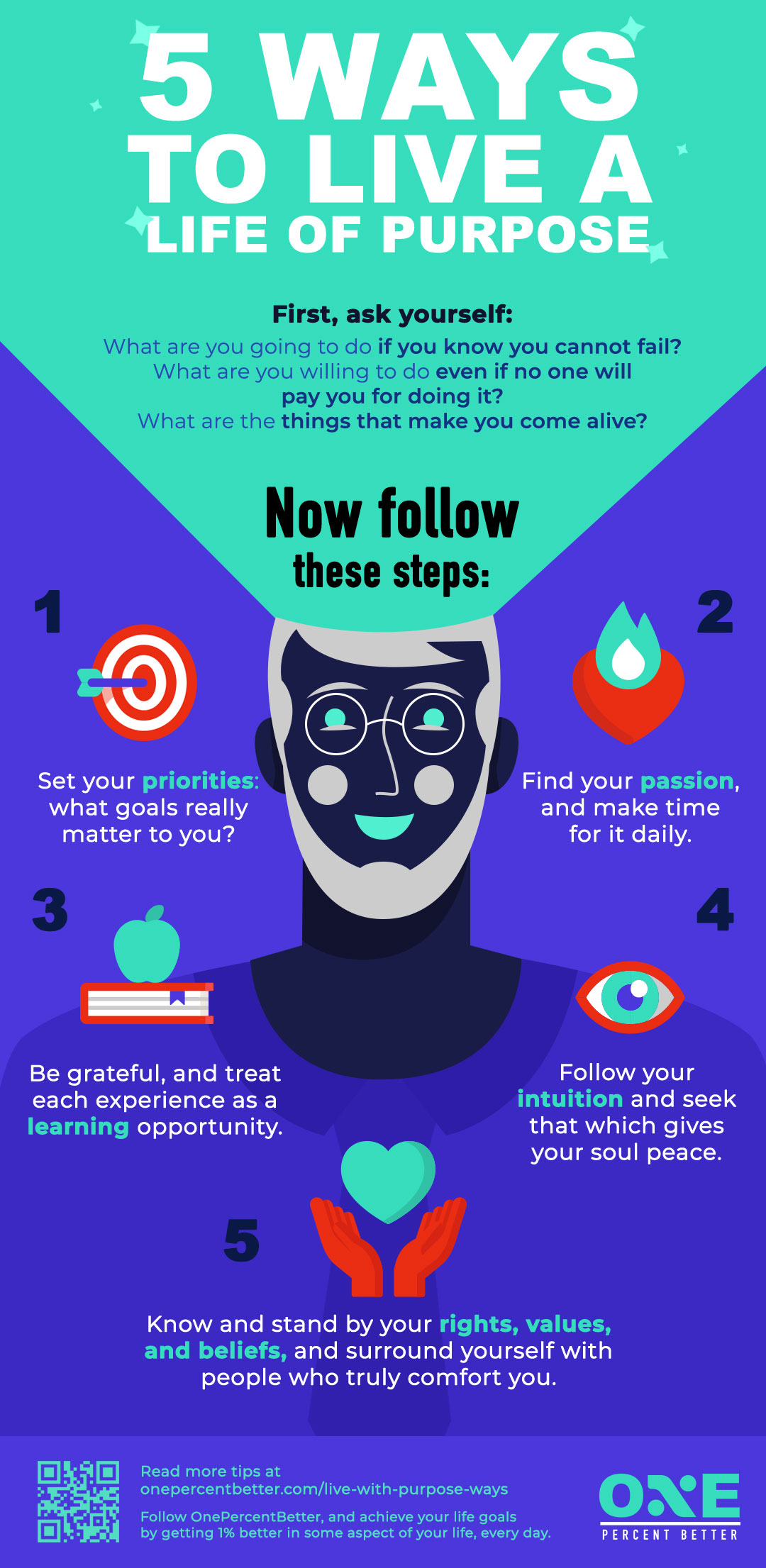 5 Ways To Live Your Life With Purpose [INFOGRAPHIC]