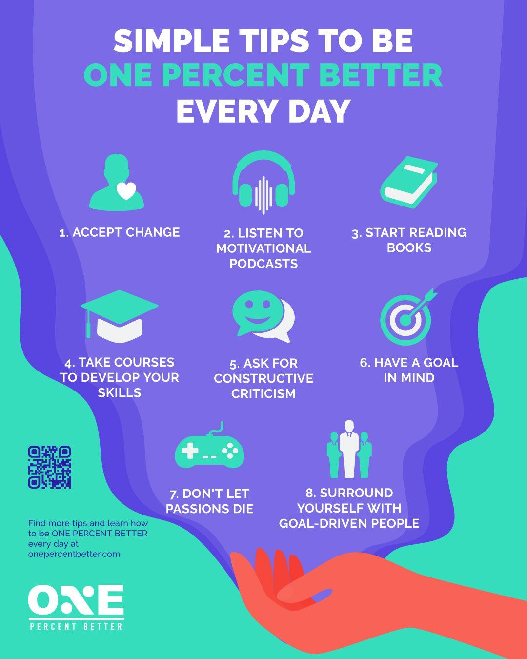 How To Better Yourself: 8 Practical Tips [INFOGRAPHIC]
