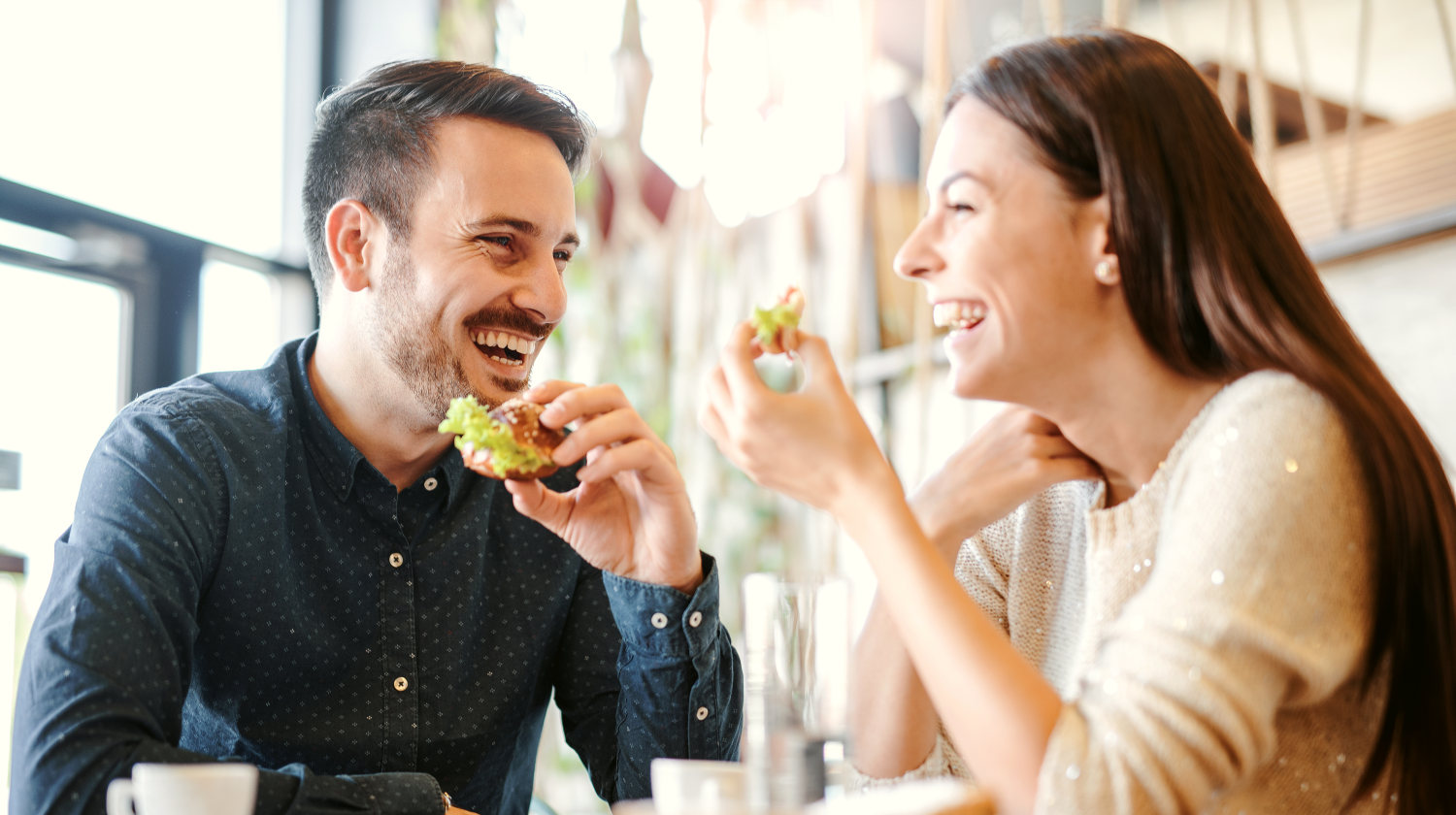 Featured | Happy loving couple enjoying breakfast in a cafe | Healthy Habits To Adopt In Your Daily Life | Daily Healthy Habits