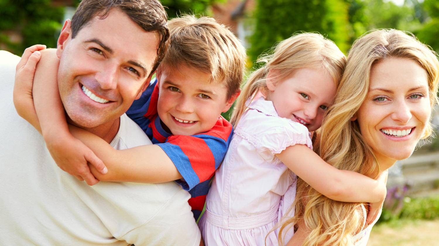 Featured | Happy Family In Garden | Ways To Live A Better, Happier Life | Live A Better Life