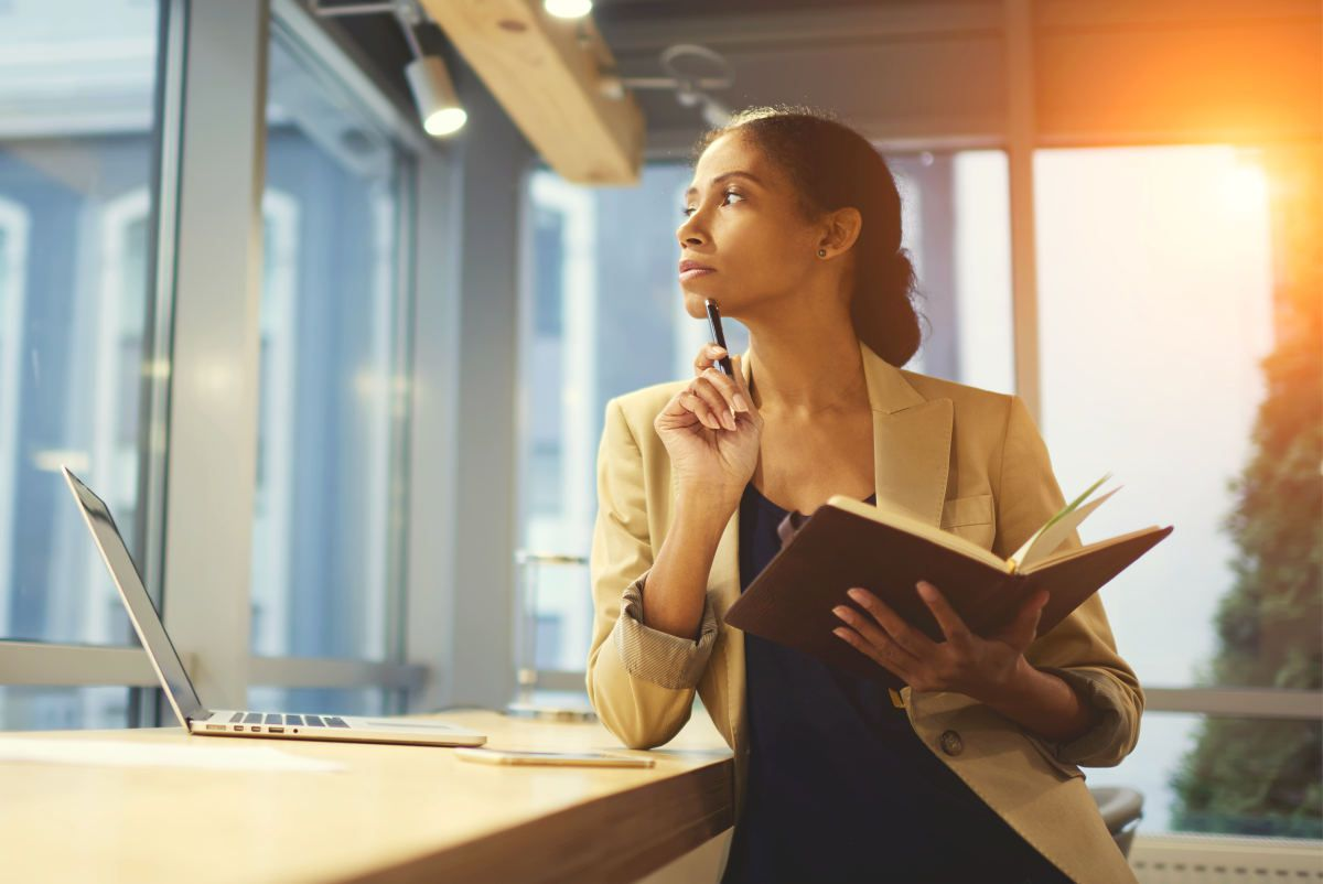 Portrait of skillful afro american female executive thinking | Ways Self Improvement Can Change Your Life and How To Do It