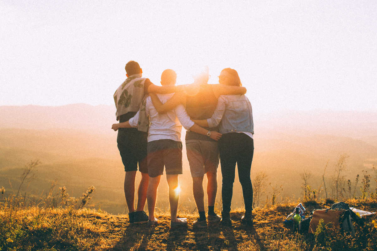 Backlit dawn foggy friendship | Stress Management Activities To Loosen Up | how to deal with stress