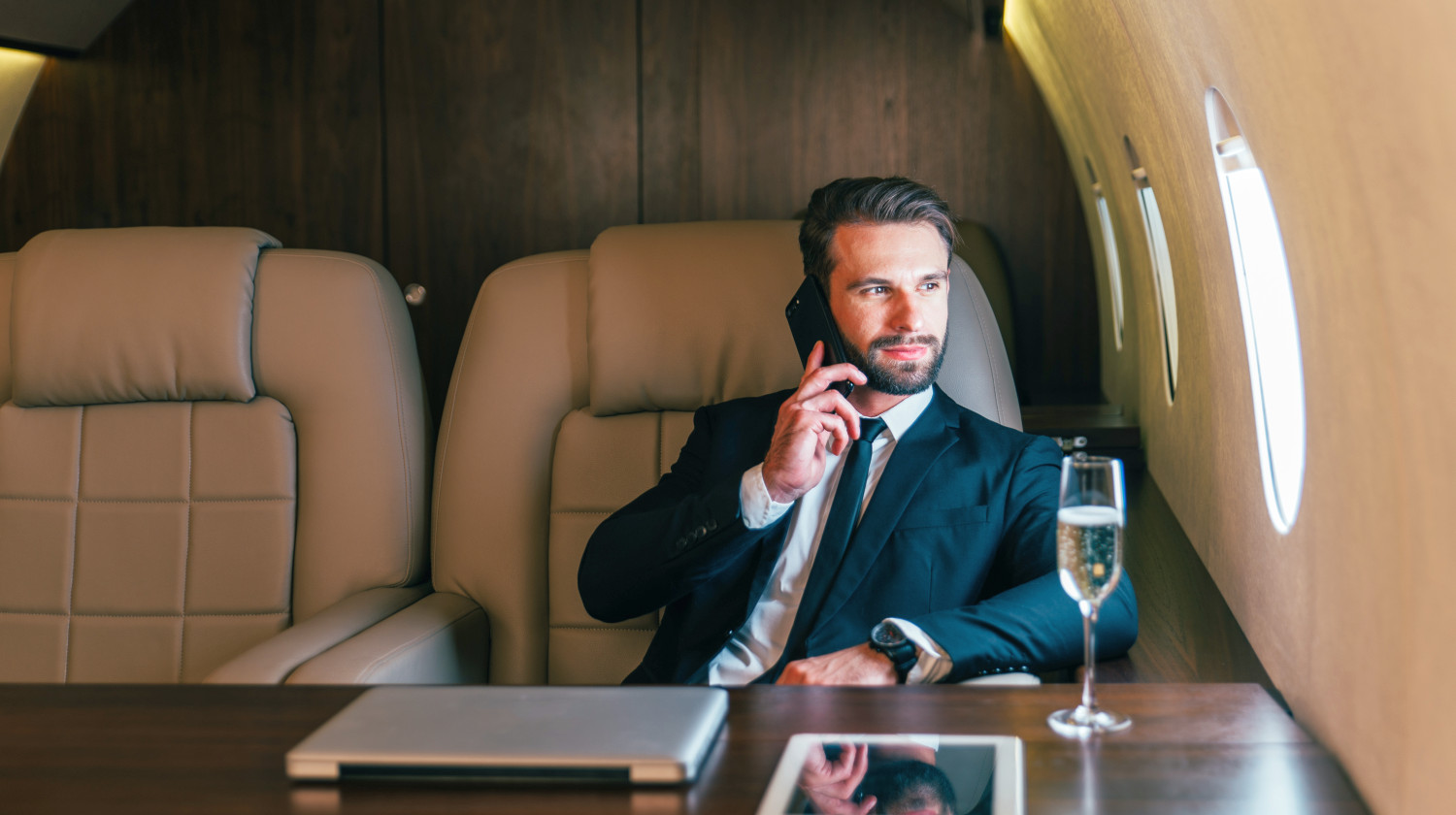 Businessman flying on his private jet | Secrets Of Self-Made Millionaires You Must Know | how to become a millionaire from nothing | Featured