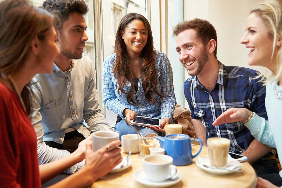 Group Of Friends In Cafe using Digital Devices | How To Find Out Who Your Friends Are | The Friend Test | Find out who your friends are | friends list