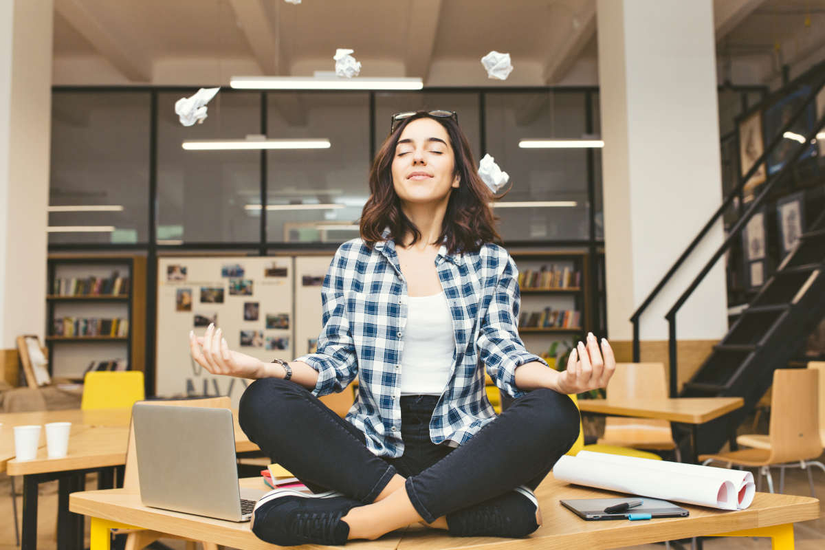 Cheerful mood, taking a break at work | Stress Management Activities To Loosen Up | ways to relieve stress