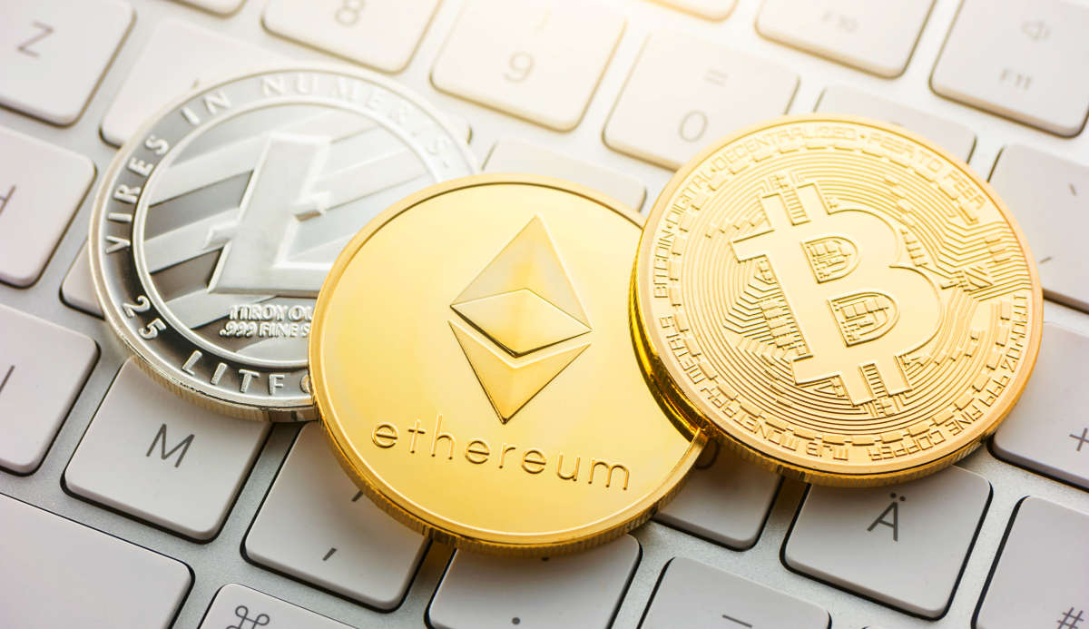 Cryptocurrency coins - Litecoin, Bitcoin, Ethereum | Investing 101: A Beginner's Guide To Investing | how to invest money