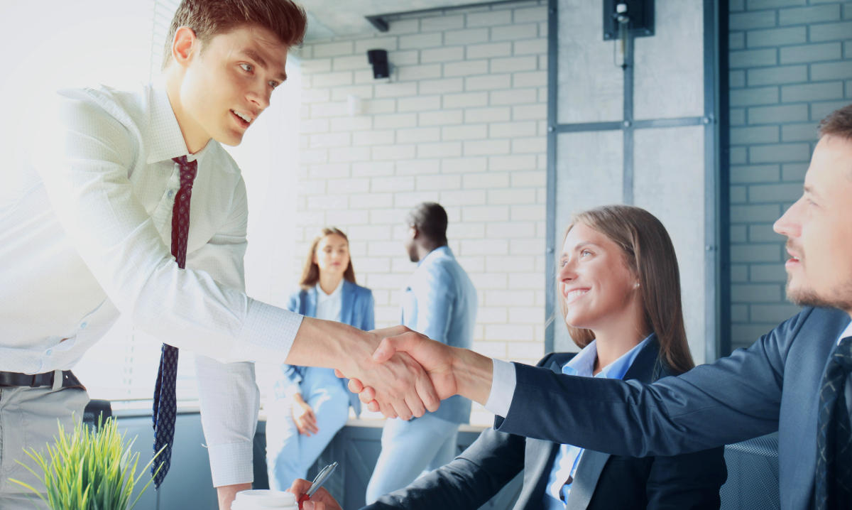 Handshake while job interviewing | Leadership Lessons From Don Draper To Be A Better Leader | leadership in business