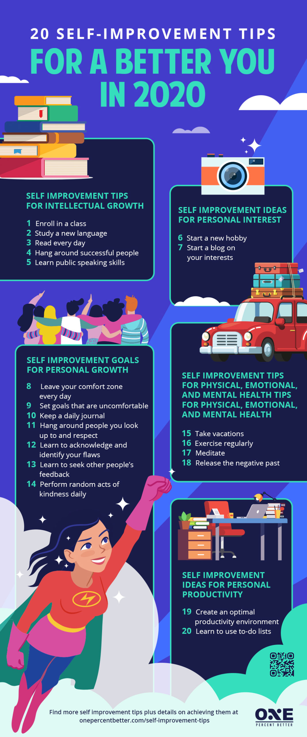 The Quickest & Easiest Self-improvement Tips To Follow In 2020 [INFOGRAPHIC]