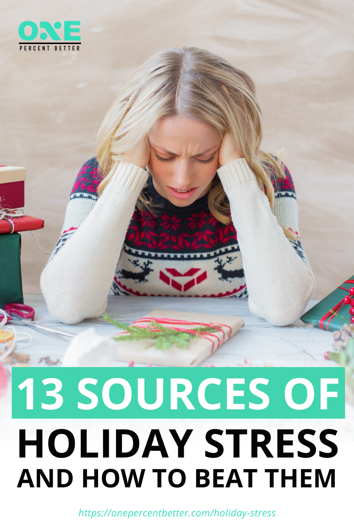 13 Sources Of Holiday Stress And How To Beat Them | https://onepercentbetter.com/holiday-stress/