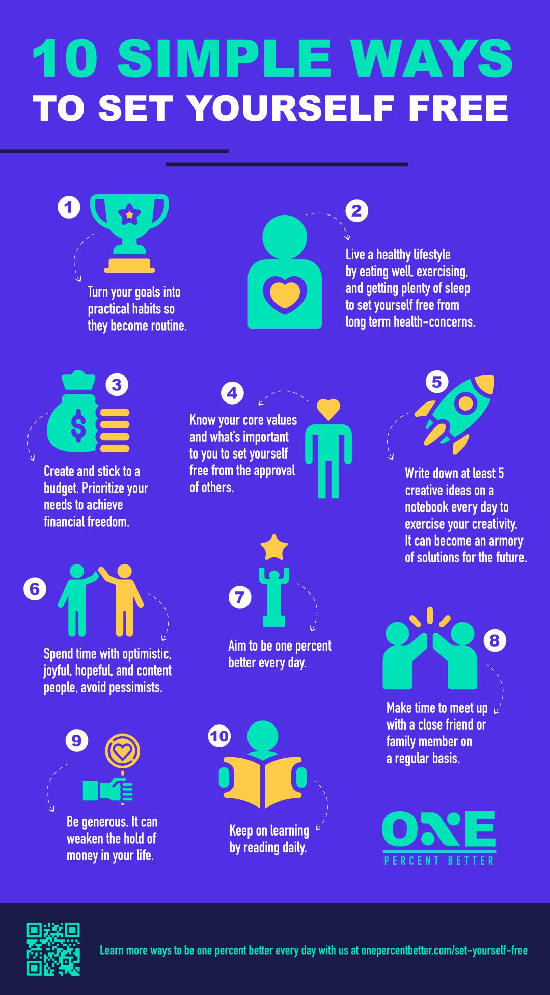 10 Ways To Set Yourself Free [INFOGRAPHIC]