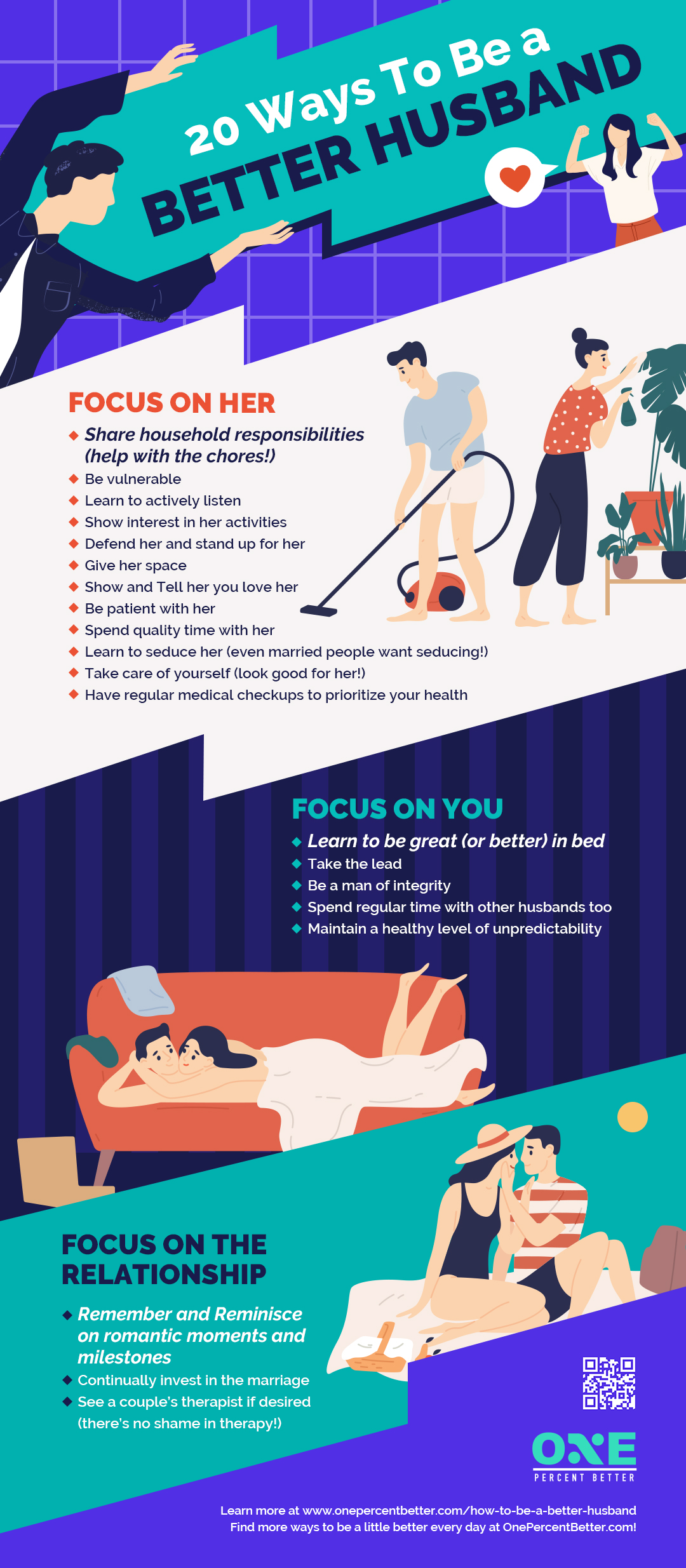 How To Be A Better Husband (20+ Simple Tips) [INFOGRAPHIC]