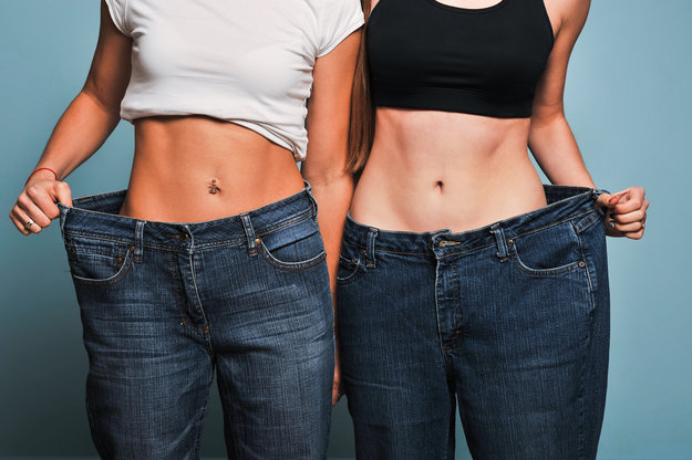 2 slimmy girls in big size jeans | Weight Loss