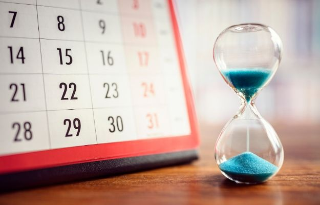 a calendar next to the hourglass | Set your own deadlines