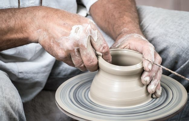 a man making handmade pottery vase | make things | 7 Ways To Invest In Yourself This Year (And Why It Matters)