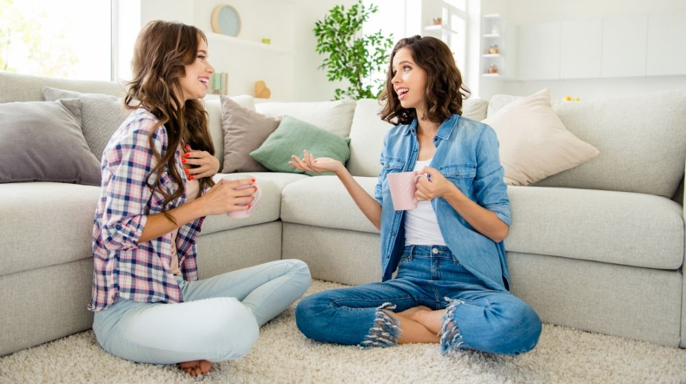 adies buddies fellows meeting hot beverage hands arms sharing news rumours | Feature | How To Be More Open, And Help Others Open Up Too