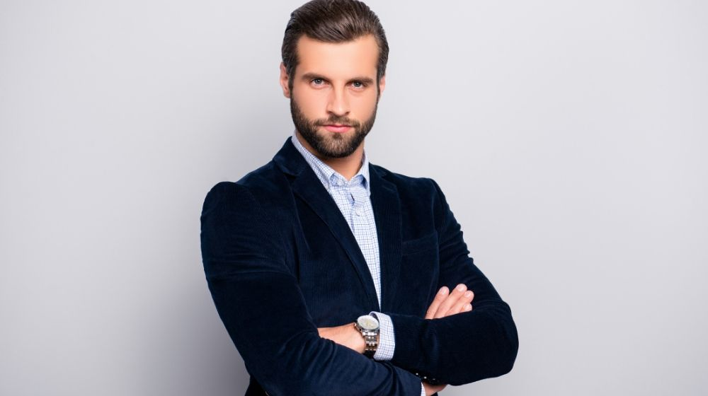 Head shot confident businessman | Practice Assertiveness | Assertiveness Training: How to Be More Assertive and Stand Up For Yourself