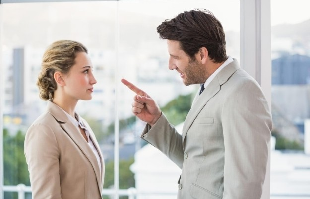 a man getting angry with his colleague in a disrespectful way | Mind your body language | How to Command Respect Without Being a Jerk