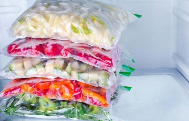 packages of frozen veggie | Freeze Food | How to Waste Less Food