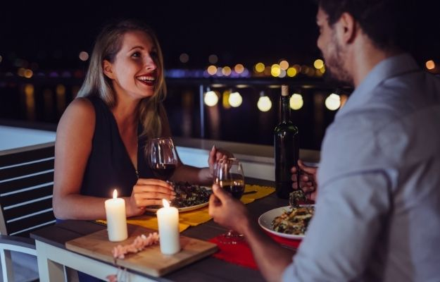 a couple is having dinner together | An Empty Stomach | How To Wake Up In A Better Mood