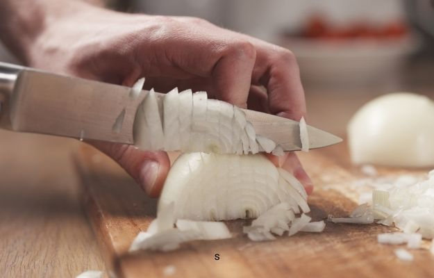 someone is cutting onion | Chop An Onion | Cooking Basics You Can Master to Be A Better Cook