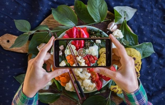 Smartphone food photography of vegetables for lunch or dinner-ss | How To Change To A Vegan Diet And Stay Healthy | Use Social Media to Your Advantage