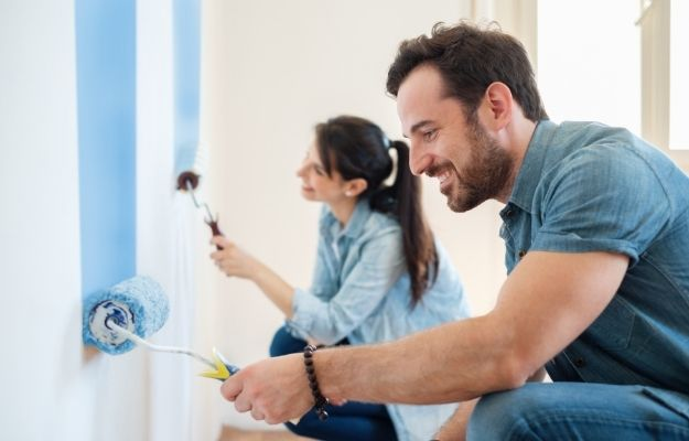 a couple is paiting - ca | How to Decorate Your Room Like A Pro - 7 Ways | Feature a Color Palette