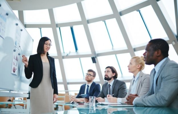 Businesswoman Gives Presentation to Her Business Colleagues | Presentation Skills | Top 8 Useful Skills To Learn