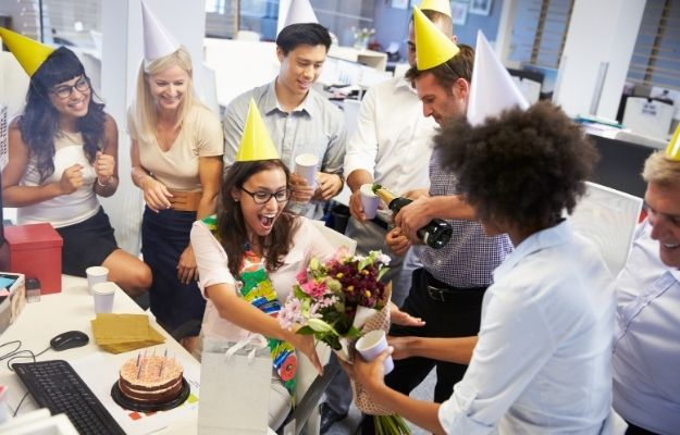 Celebrating a colleague's birthday in the office - ss | Top Healthy Habits You Should Have | Prepare for Parties