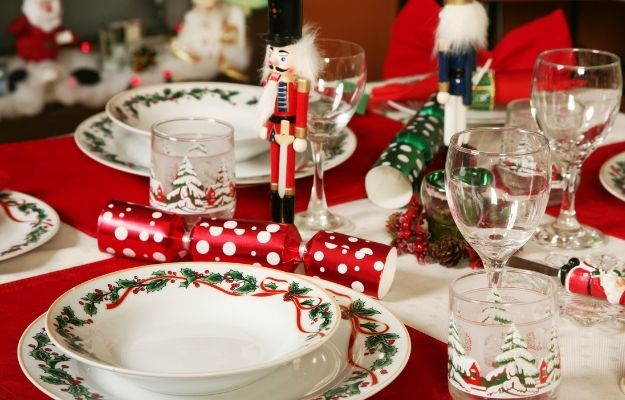 Christmas table with red theme - pick a theme - CA | How To Make Perfect Christmas Table Settings | Pick a Theme