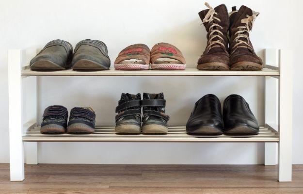 White wooden shoe shelf - shoe shelf - CA | Top 7 DIY Furniture For Your Home | shoe shelf