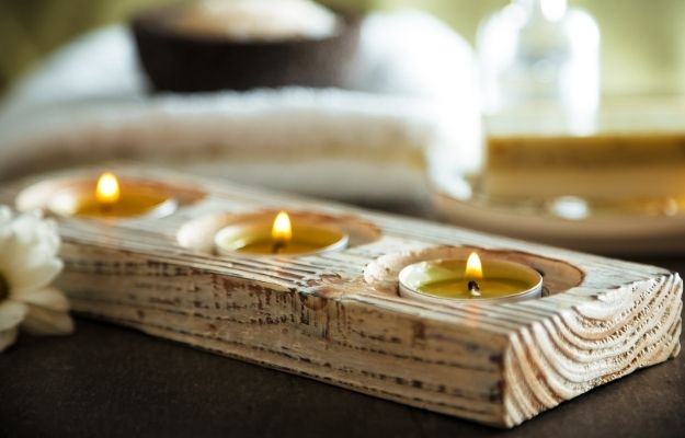 Wooden candle holders with candles - wooden candle holders - CA | Top 7 DIY Furniture For Your Home | Candleholders