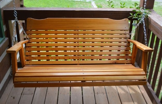 Wooden porch swing - Porch Swing - CA | Top 7 DIY Furniture For Your Home | Porch Swing