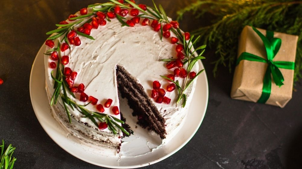 a chocolate Christmas cake - ca - featured photo | Christmas Cake Ideas You Need To Try This Holiday | featured