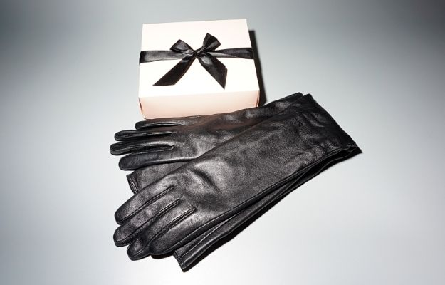 a pair of leather gloves and a white gift box | Top 9 Gifts for Mom for the Holiday | Leather Gloves